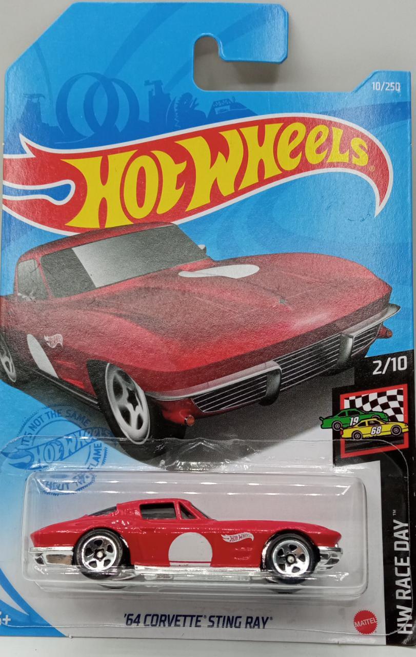 Carrinho Hot Wheels '64 Corvette Sting Ray HW Race Day - Mattel