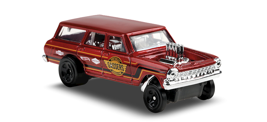 Carrinho Hot Wheels '64 Nova Wagon Gasser (2FPO4) Muscle Mania - Mattel