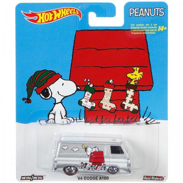 Carrinho Hot Wheels '66 Dodge A100: Snoopy (Peanuts) - Mattel