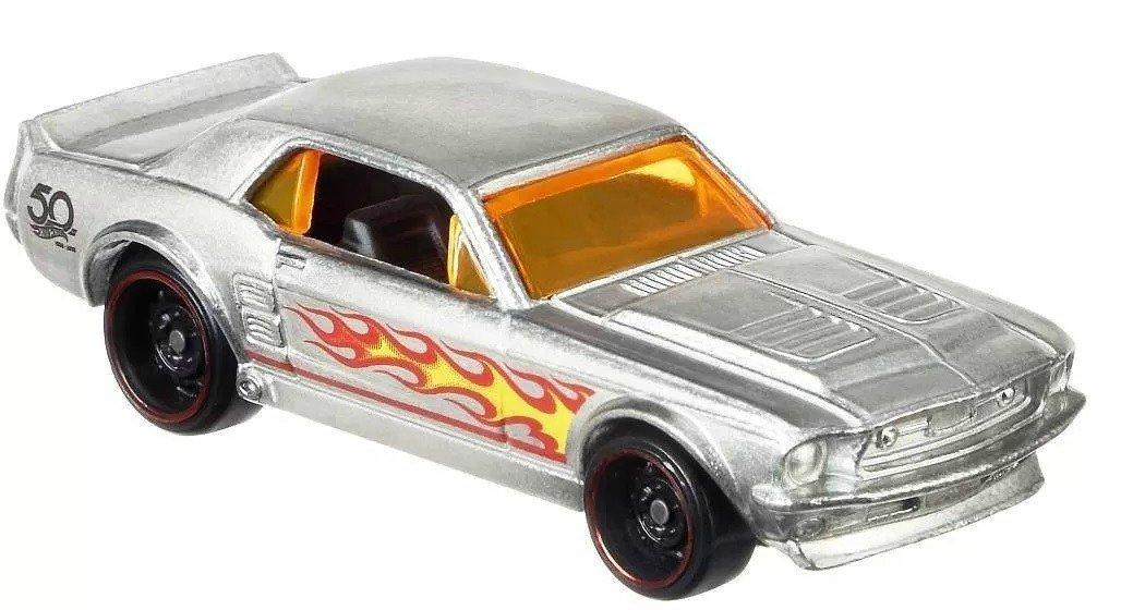 Carrinho Hot Wheels: `67 Ford Mustang Coupe (Zamac) - Mattel