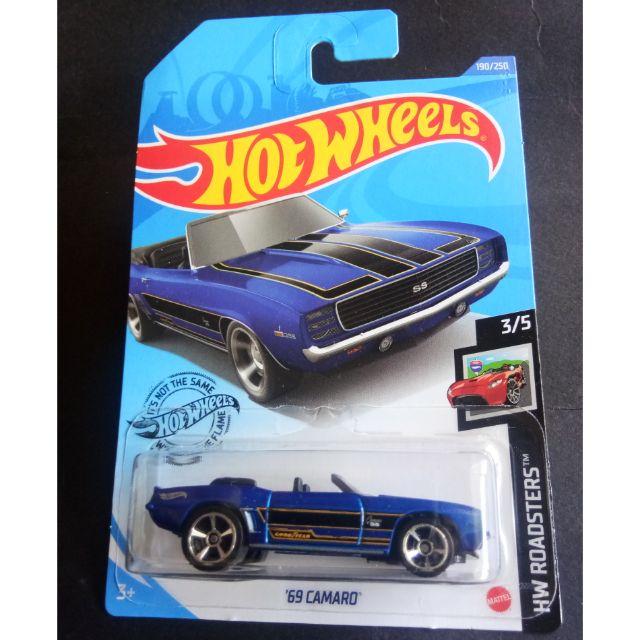 Carrinho Hot Wheels 69 Camaro (RNMSC) HW Roadsters - Mattel