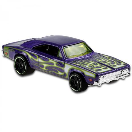 Carrinho Hot Wheels '69 Dodger Charger 500 Roxo(BIXWP) HW Flames - Mattel