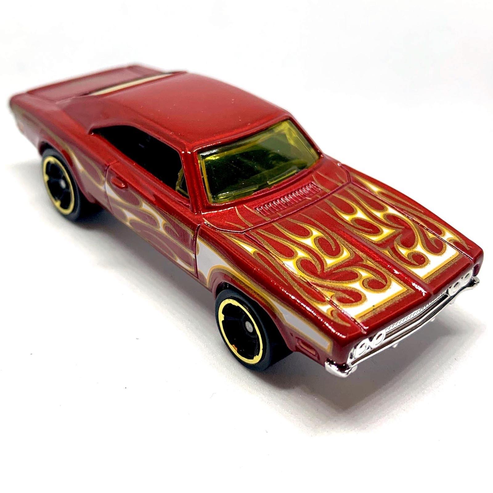 Carrinho Hot Wheels '69 Dodger Charger 500 Vermelho (QOZDP) HW Flames - Mattel