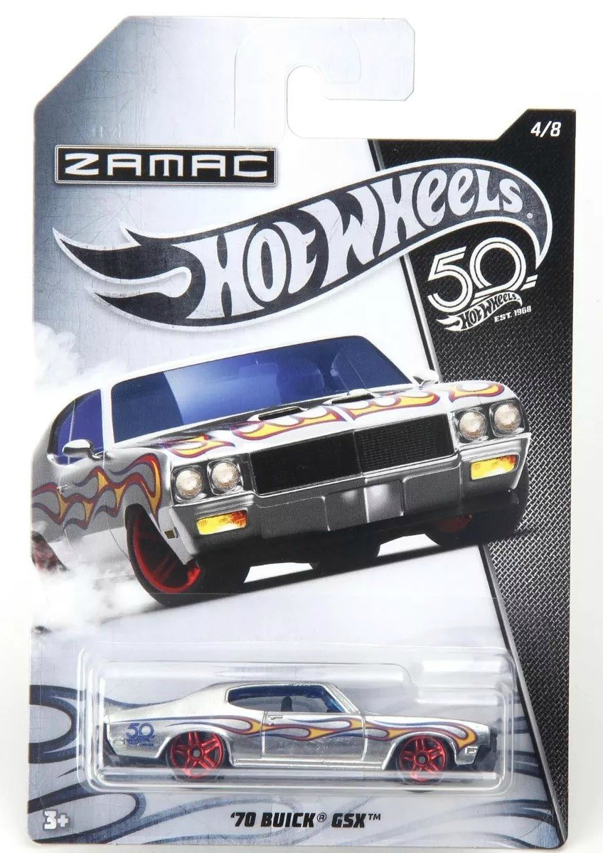 Carrinho Hot Wheels: `70 Buick GSX (Zamac) - Mattel