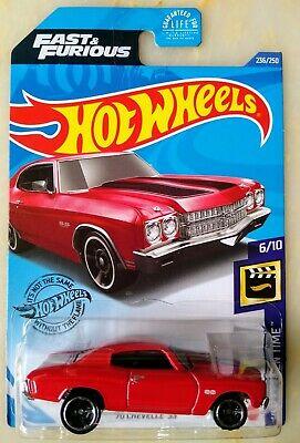 Carrinho Hot Wheels 70 Chevelle 55 (V7T7M) HW Screen Time - Mattel