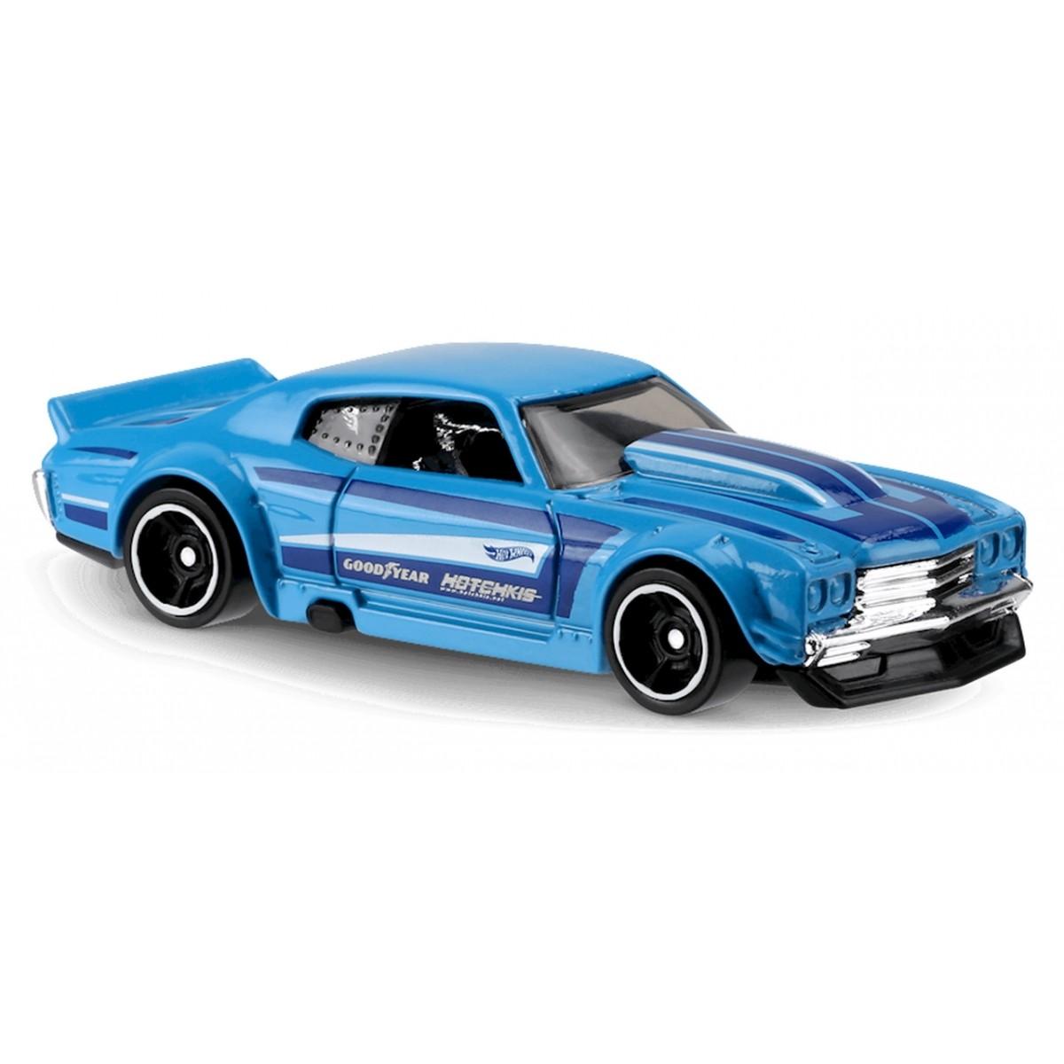 Carrinho Hot Wheels: '70 Chevy Chevelle Azul