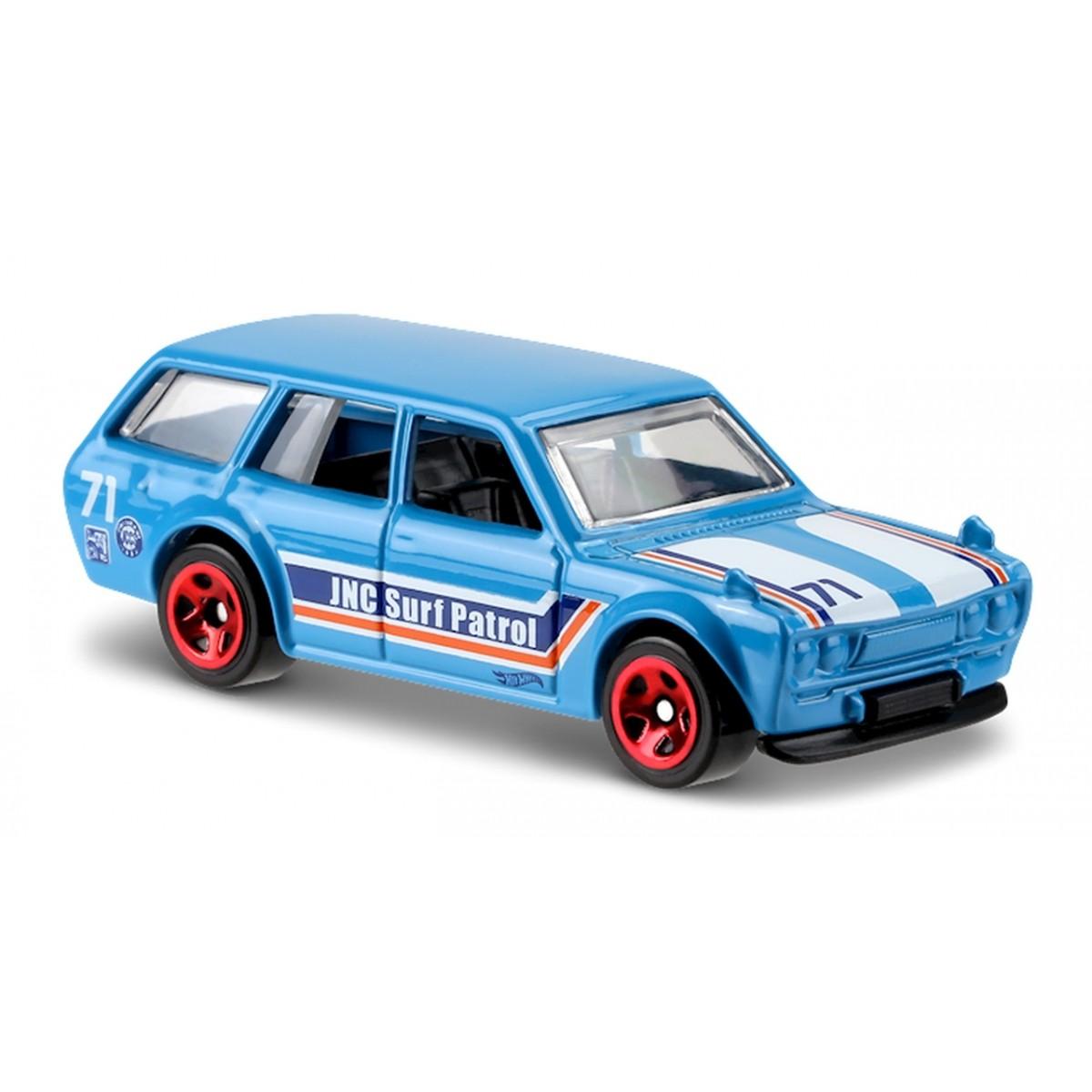 Carrinho Hot Wheels: '71 Datsun Bluebird 510 Wagon Azul