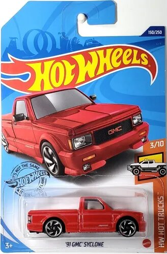 Carrinho Hot Wheels '91 GMC Syclone (HACEU) HW Hot Trucks - Mattel