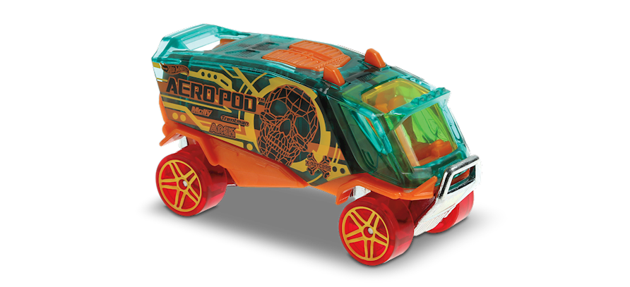 Carrinho Hot Wheels: Aero Pod - ( X-Raycers ) - AGITO