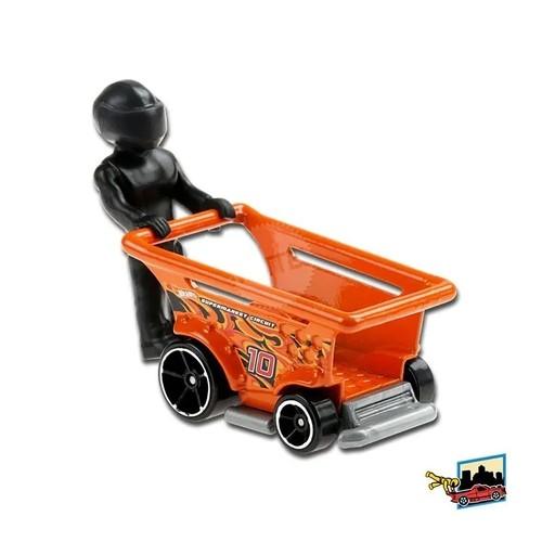 Carrinho Hot Wheels: Aisle Driver ''Laranja'' (JPINA) HW Ride - Ons - Mattel