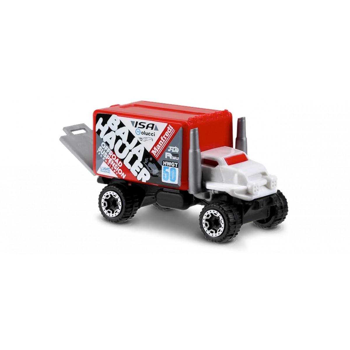 Carrinho Hot Wheels: Baja Hauler Vermelho e Branco