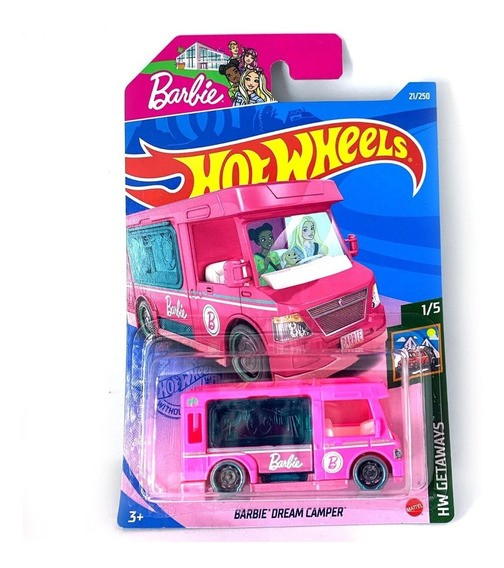 Carrinho Hot Wheels Barbie Dream Camper Rod Getaways - Mattel