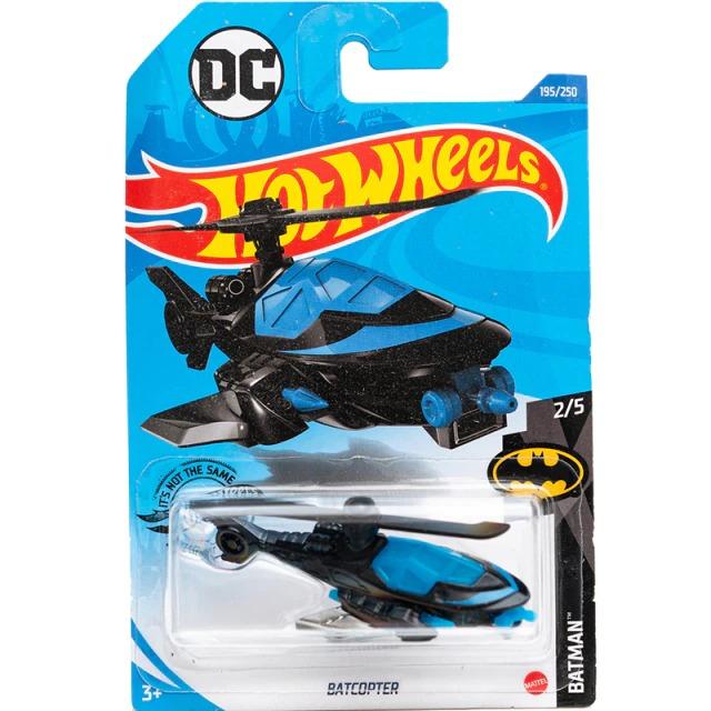 Carrinho Hot Wheels BatCopter Preto Batman DC Comics (G2N17) - Mattel - EVALI