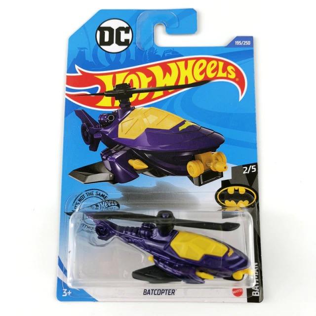 Carrinho Hot Wheels BatCopter Roxo Batman DC Comics (FKVSY)  - Mattel - EVALI