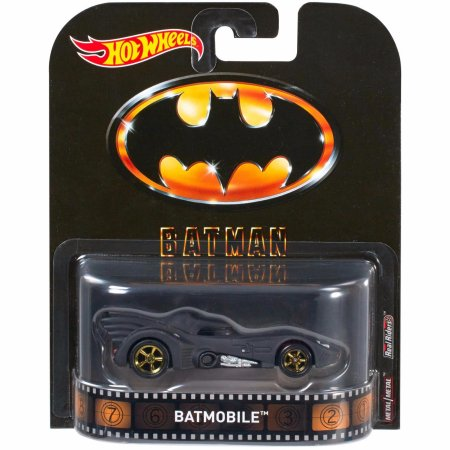 Carrinho Hot Wheels: Batman 1989 Batmobile Preto