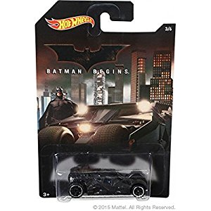 Carrinho Hot Wheels: Batman Begins Batmobile Preto