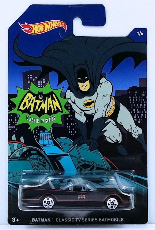 Carrinho Hot Wheels: Batman: Classic TV Series Batmobile Preto