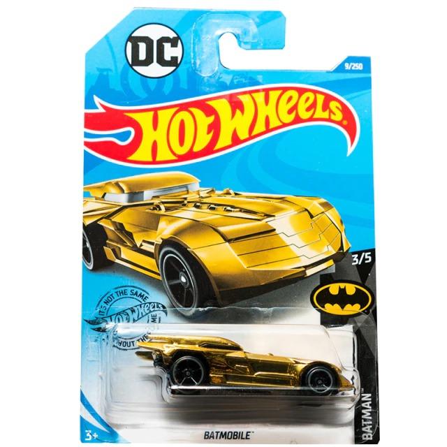 Carrinho Hot Wheels Batmóvel Batmobile Dourado Batman a Serie Animada 1992 DC Comics (GAYDV) - Mattel - EVALI