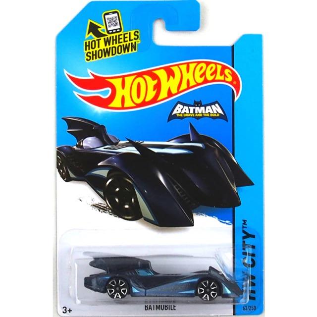 Carrinho Hot Wheels Batmóvel Batmobile  Azul Batman Bravos e Destemidos DC Comics - Mattel - MKP