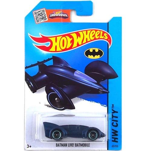 Carrinho Hot Wheels Batmóvel Batmobile Azul Batman Live DC Comics - Mattel - MKP