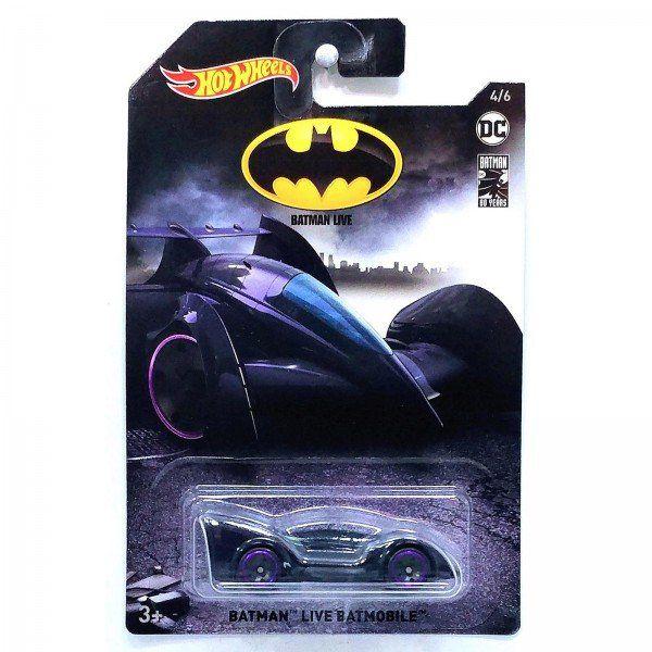 Carrinho Hot Wheels Batmóvel (Batmobile): Batman Live  (FYX91) - Mattel