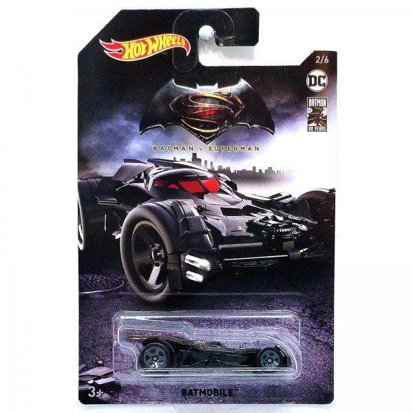 Carrinho Hot Wheels Batmóvel (Batmobile): Batman Vs Superman (FYX89) - Mattel