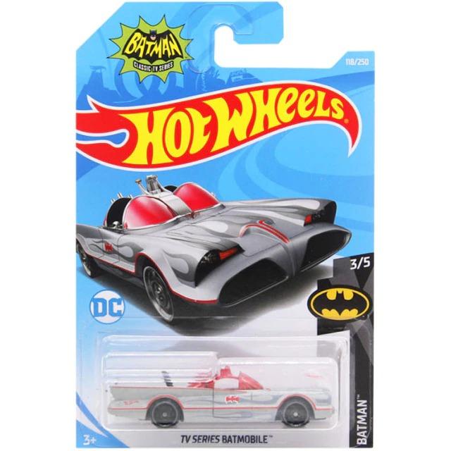 Carrinho Hot Wheels Batmóvel  Batmobile Prata Batman Clássico TV Series - Mattel - MKP