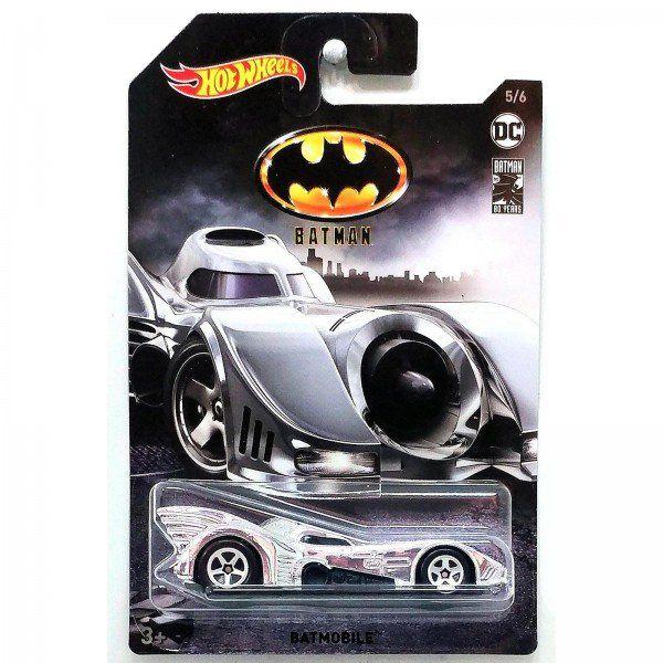Carrinho Hot Wheels Batmóvel (Batmobile) Prata: The Batman (FYX92) - Mattel