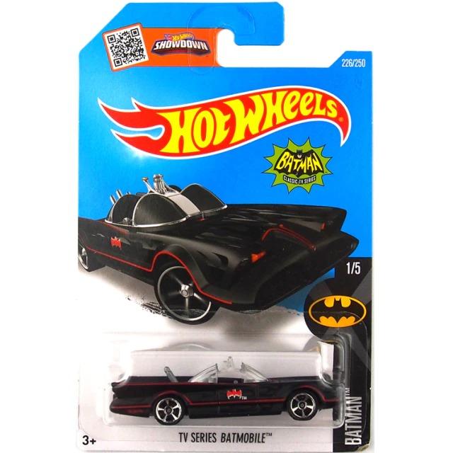Carrinho Hot Wheels Batmóvel  Batmobile Preto Batman Clássico TV Series - Mattel - MKP