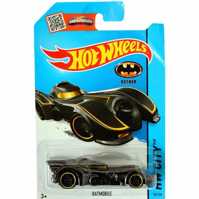 Carrinho Hot Wheels Batmóvel Batmobile Preto e Amarelo Batman 1989 DC Comics - Mattel - MKP
