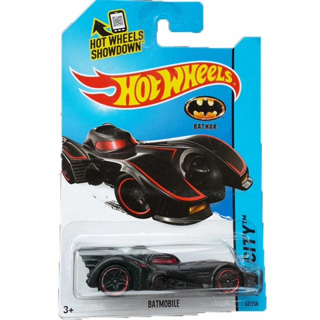 Carrinho Hot Wheels Batmóvel Batmobile Preto e Vermelho Batman 1989 DC Comics - Mattel - MKP