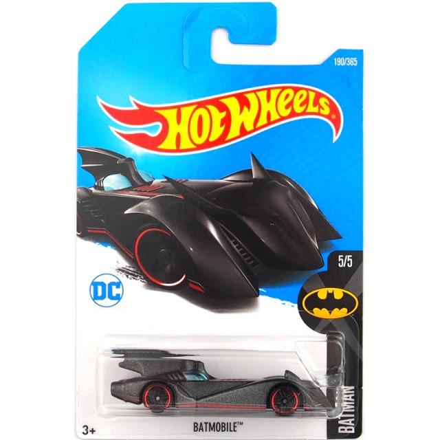 Carrinho Hot Wheels Batmóvel Batmobile Preto e Vermelho Batman Bravos e Destemidos DC Comics - Mattel - MKP