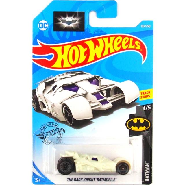 Carrinho Hot Wheels Batmóvel Batmobile Tumbler Branco Batman The Dark Knight DC Comics - Mattel - MKP