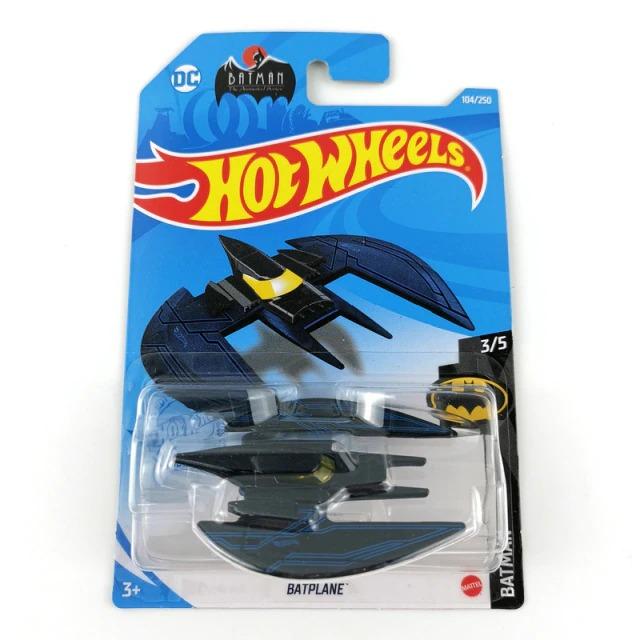 Carrinho Hot Wheels Batplane Batwing Preto e Azul Batman DC Comics - Mattel - MKP