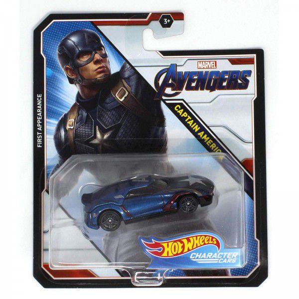 Carrinho Hot Wheels Capitão América: Vingadores (Avengers) - Mattel