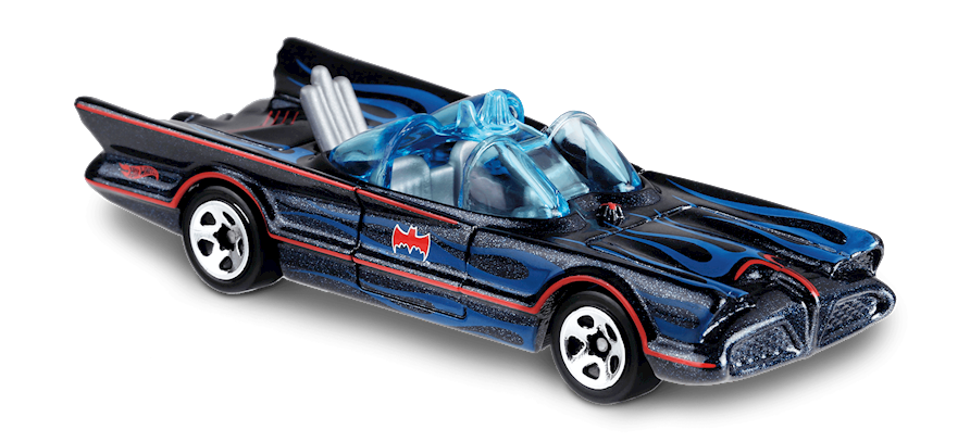 Carrinho Hot Wheels Classic TV Series Batmobile (KCNQC) - Mattel