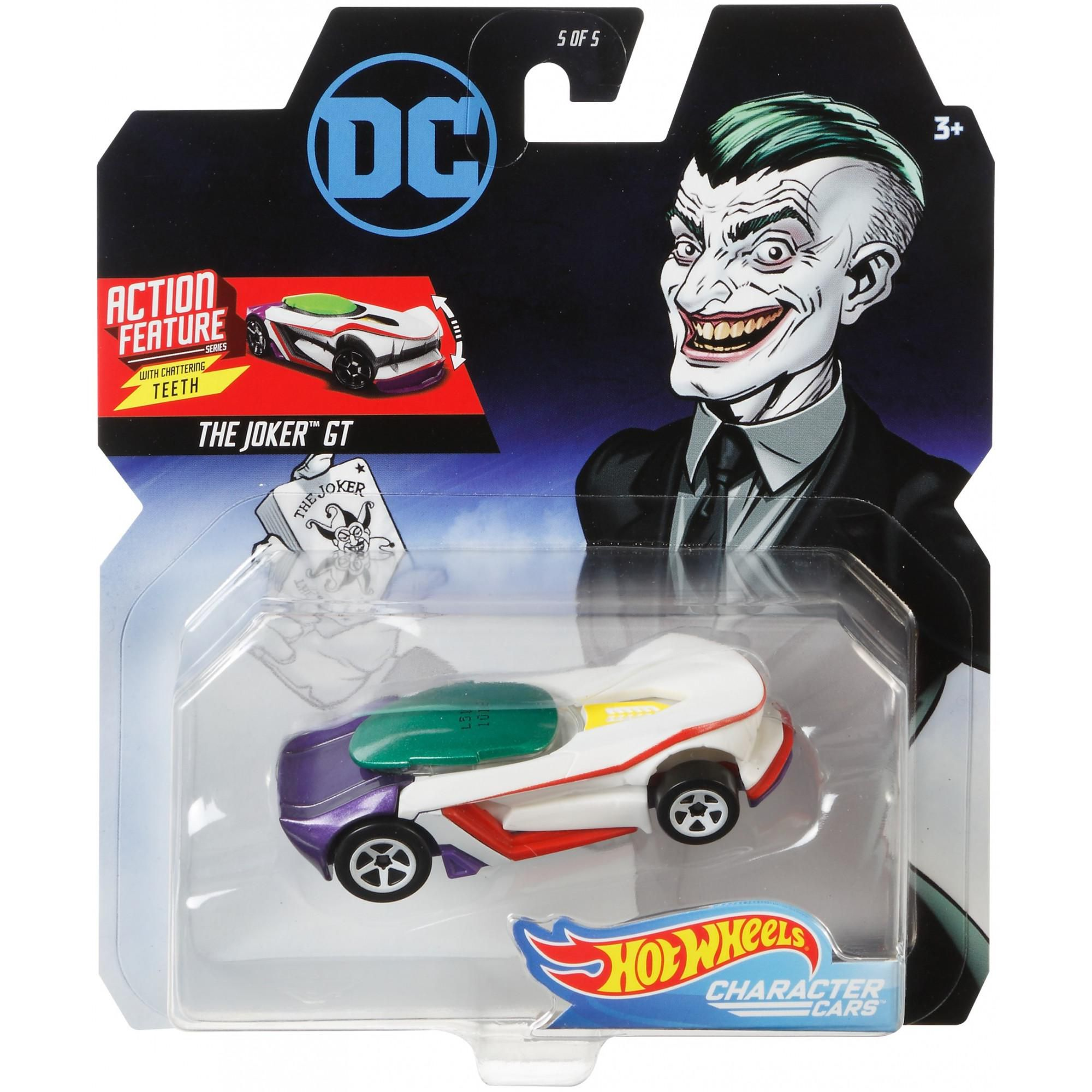 Carrinho Hot Wheels Coringa (Joker): DC Comics - Mattel