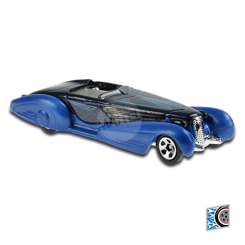 Carrinho Hot Wheels: Custom Cadillac Fleetwood ''Azul'' (7WLFX) Rod Squad - Mattel