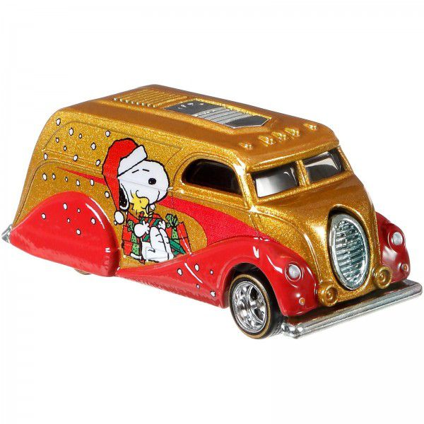 Carrinho Hot Wheels Deco Delivery: Snoopy (Peanuts) - Mattel