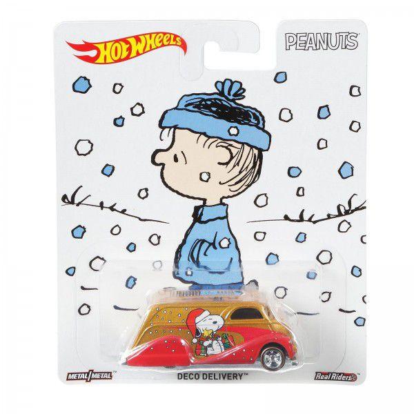 Carrinho Hot Wheels Deco Delivery: Snoopy (Peanuts) - Mattel