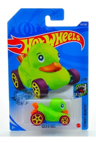 Carrinho Hot Wheels Duck N' Roll (TLXB9) Street Beasts - Mattel