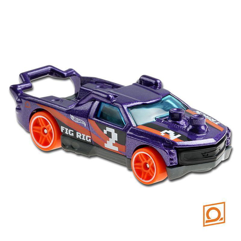 Carrinho Hot Wheels: Fig Rig Track Stars - Mattel