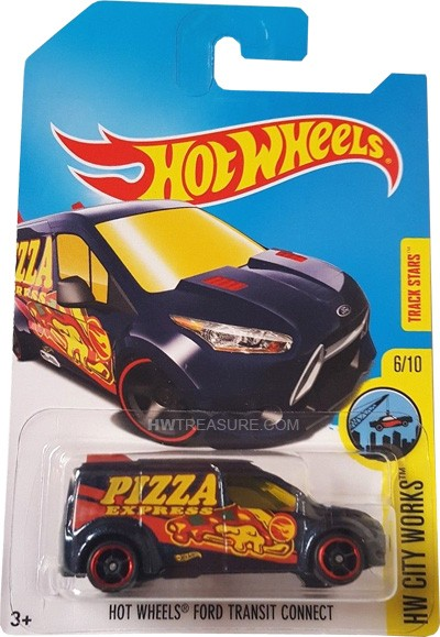 Carrinho Hot Wheels: Ford Transit Connect Azul