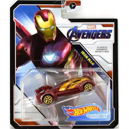 Carrinho Hot Wheels Homem de Ferro: Vingadores (Avengers) - Mattel