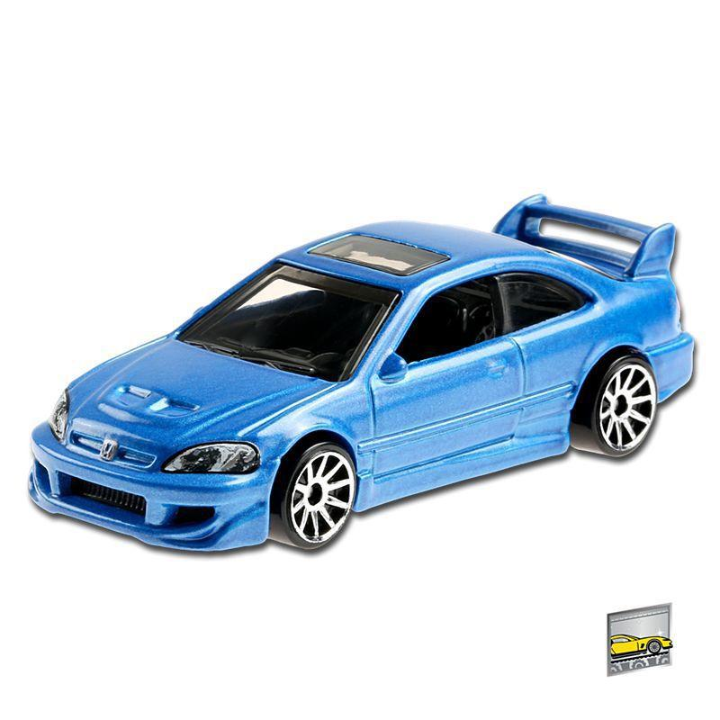 Carrinho Hot Wheels: Honda Civic Si (Azul) Factory Fresh - Mattel