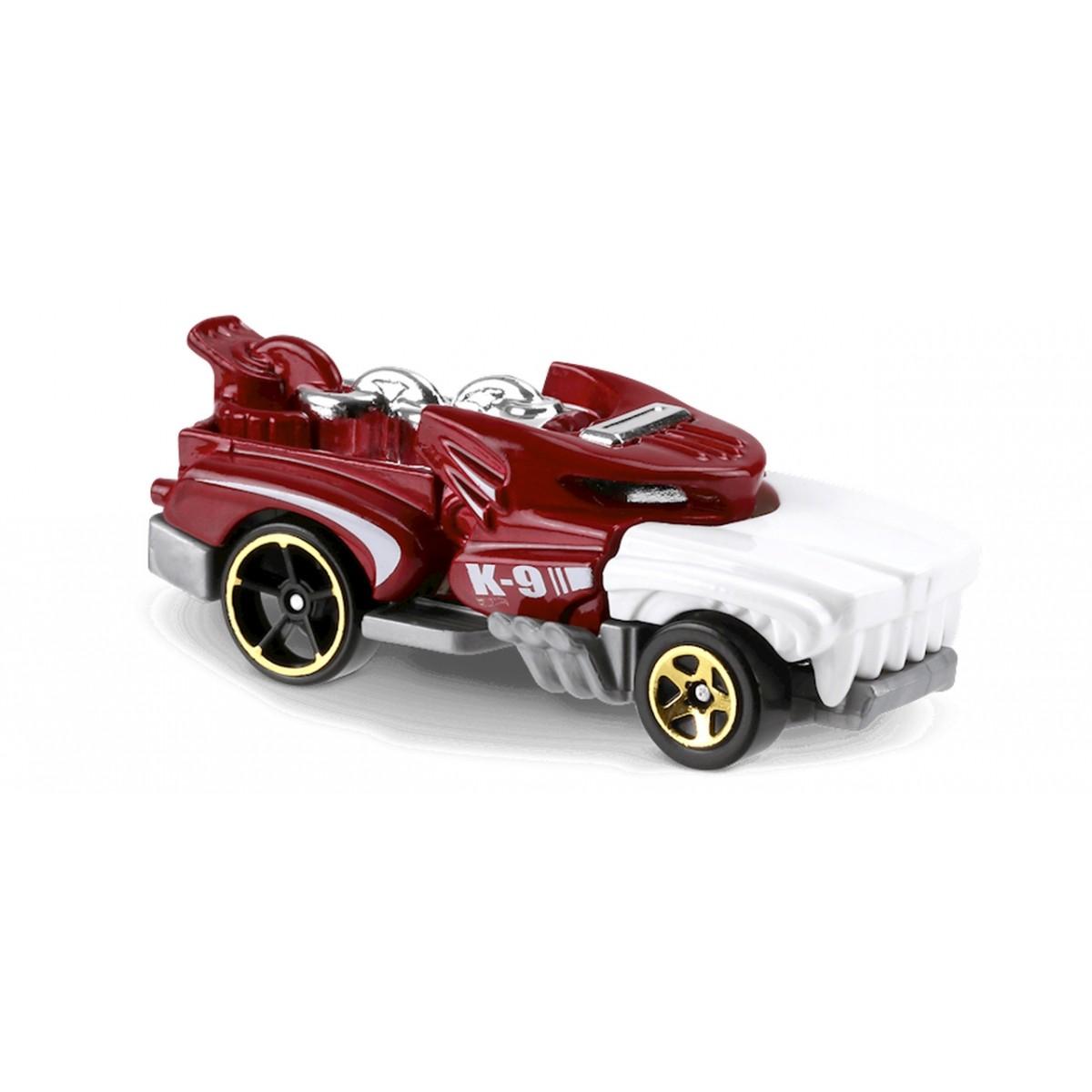 Carrinho Hot Wheels: Hotweiler Vermelho e Branco