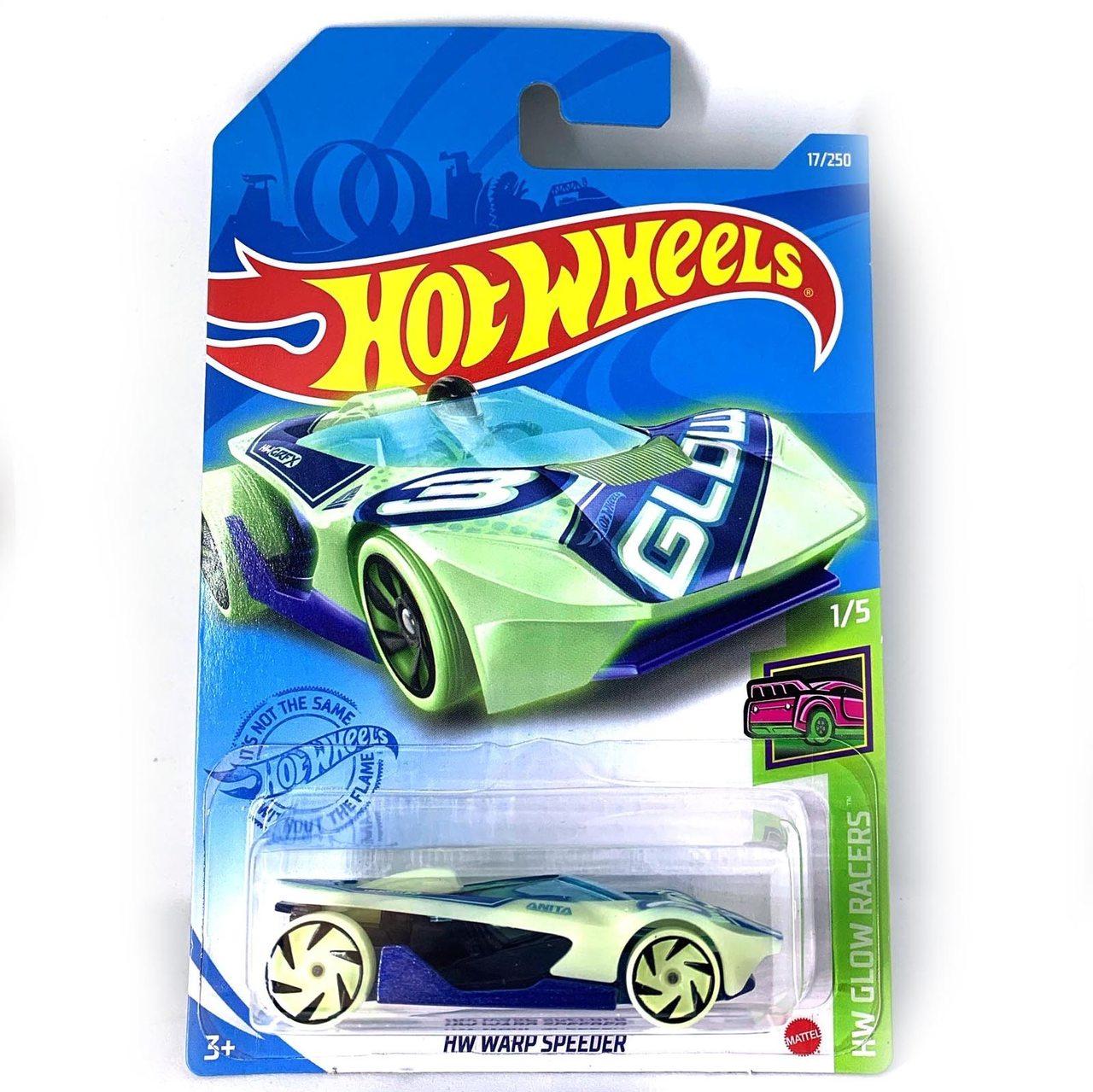 Carrinho Hot Wheels HW WARP Speeder HW Glow Racers - Mattel