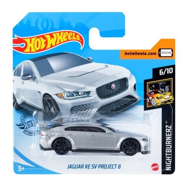 Carrinho Hot Wheels Jaguar XE SV Project 8 (GRXCW) Nightburnerz - Mattel
