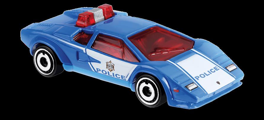 Carrinho Hot Wheels Lamborghini Countach Police Car (HK7MA) - Mattel