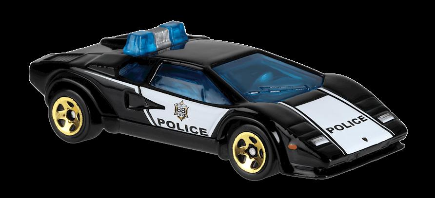 Carrinho Hot Wheels Lamborghini Countach Police Car (NCYEW) - Mattel